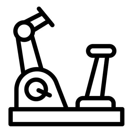 Exercise bike icon. Outline exercise bike vector icon for web design isolated on white background