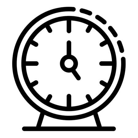 Training watch icon. Outline training watch vector icon for web design isolated on white background