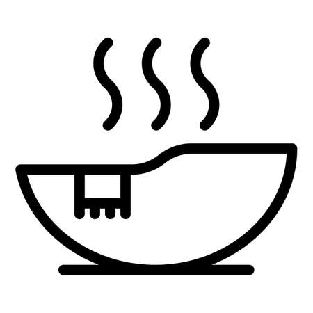 Hot sauna icon, outline style