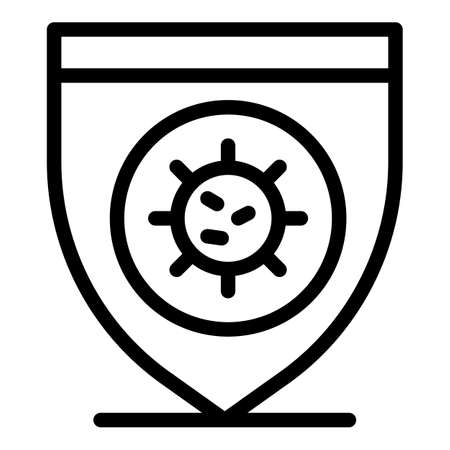 Virus protect icon, outline style