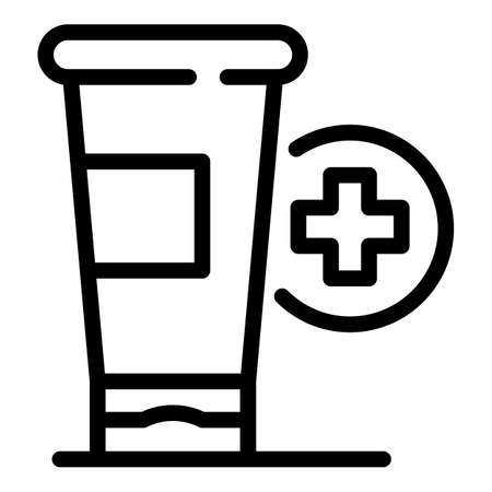 Medical cream icon, outline style Vektoros illusztráció