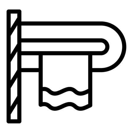 Heat towel rail icon, outline style 일러스트