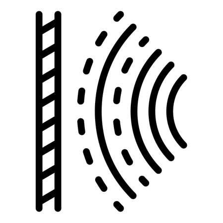 Audio signal icon, outline style Vecteurs