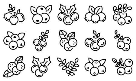 Rowan icons set, outline style