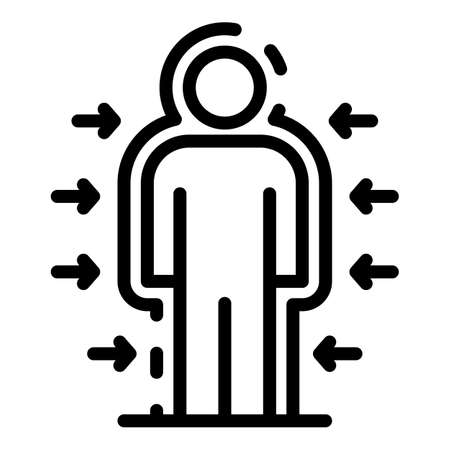 Sound barrier icon, outline style