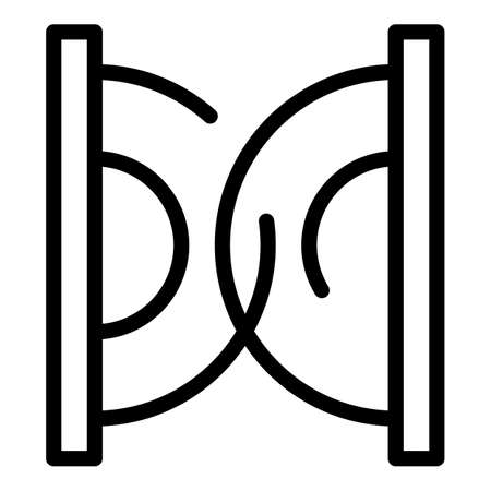 Noise proof icon, outline style