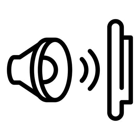 Sound resistant icon, outline style
