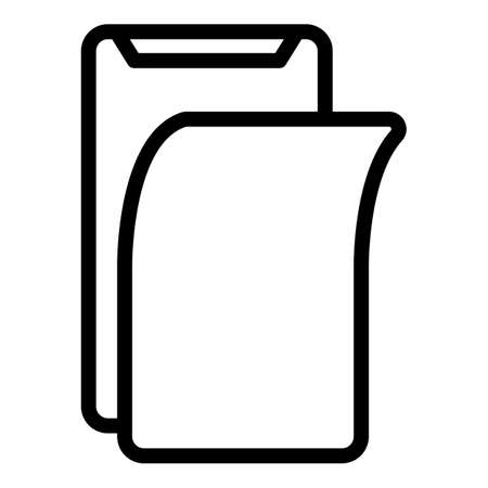 Protector display phone icon, outline style