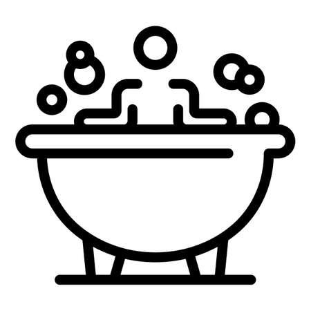 Bathtub icon, outline style