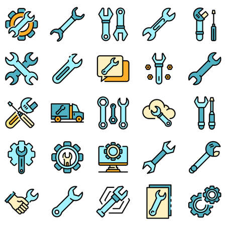 Wrench icons vector flat 일러스트