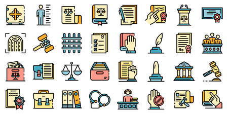 Legislation icons vector flat