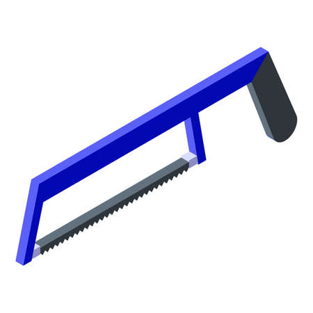 Hacksaw icon, isometric style Stock Illustratie