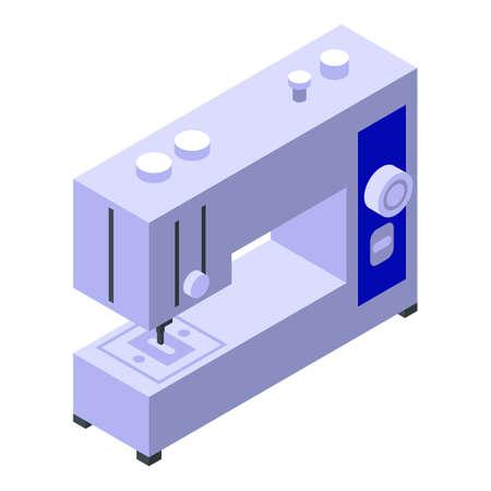Sewing machine icon, isometric style Vettoriali