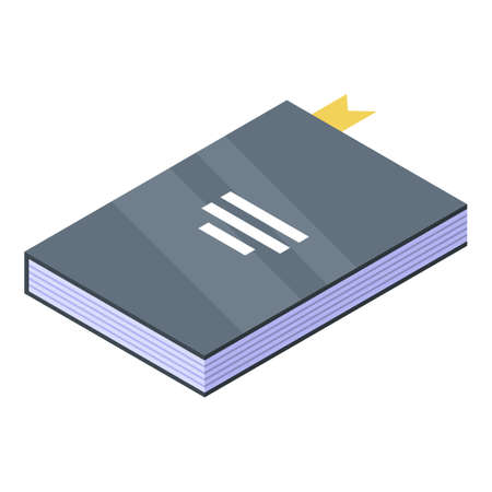 Library book icon. Isometric of library book vector icon for web design isolated on white background