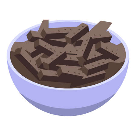 Brown crackers icon, isometric style