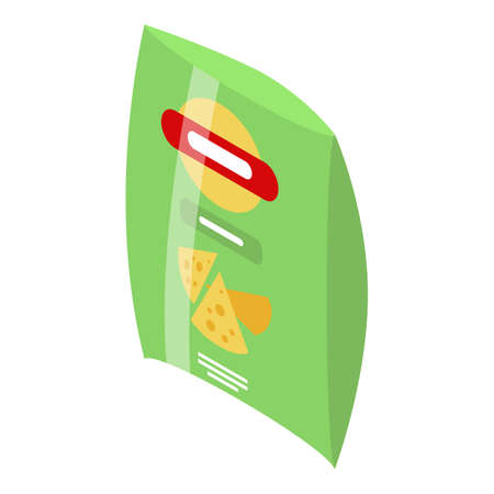 Chips package icon, isometric style