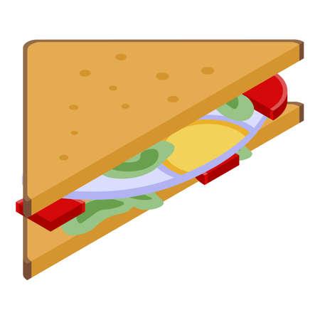 Kid sandwich icon, isometric style