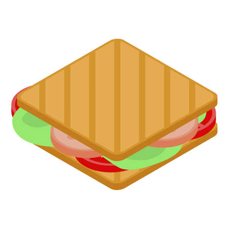 Office sandwich icon, isometric style