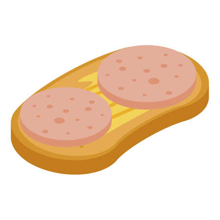 Classic sandwich icon, isometric style
