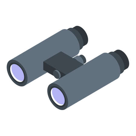 Headhunter binocular icon. Isometric of headhunter binocular vector icon for web design isolated on white background
