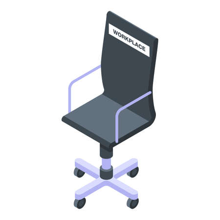 Free workplace icon. Isometric of free workplace vector icon for web design isolated on white background Illustration