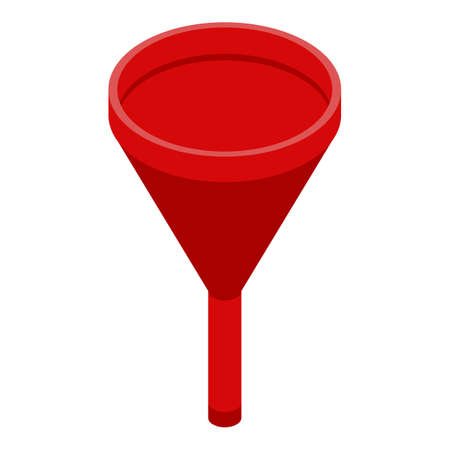Recruiter funnel icon. Isometric of recruiter funnel vector icon for web design isolated on white background