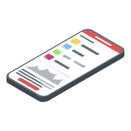 It administrator smartphone icon. Isometric of it administrator smartphone vector icon for web design isolated on white background Illustration