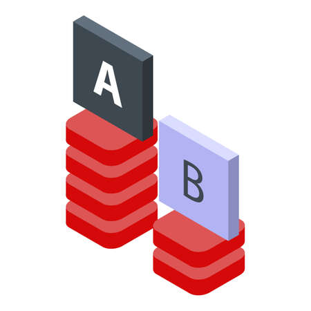Testing software graph bars icon. Isometric of testing software graph bars vector icon for web design isolated on white background Vektorové ilustrace
