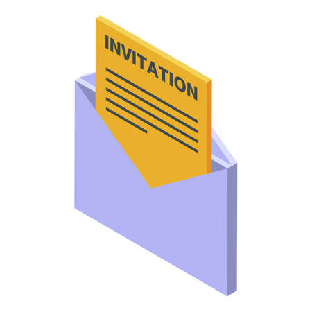 Headhunter invitation icon. Isometric of headhunter invitation vector icon for web design isolated on white background
