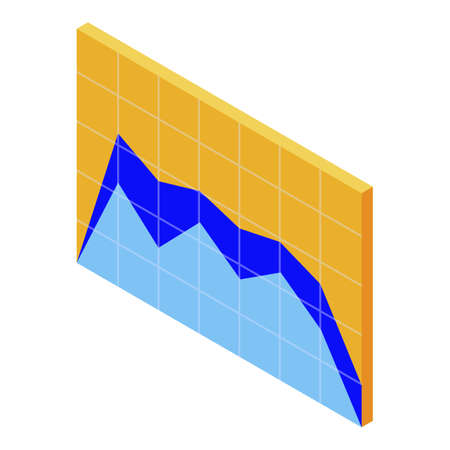 Headhunter graph chart icon. Isometric of headhunter graph chart vector icon for web design isolated on white background