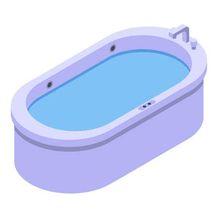 Isometric of bathtub bath vector icon for web design isolated on white background