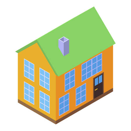 House soundproofing icon, isometric style