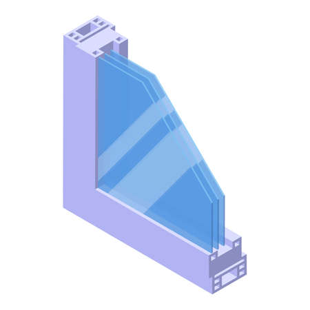 Soundproofing section icon, isometric style