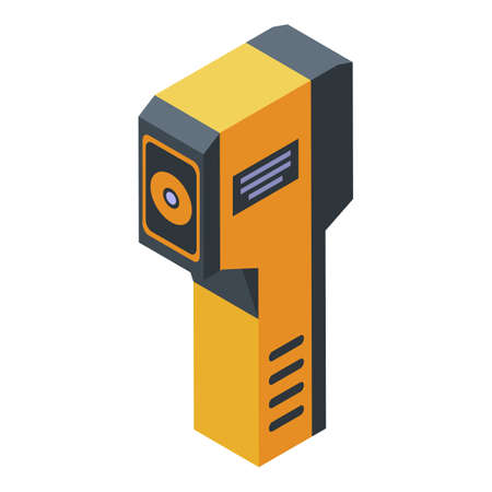Sensor thermal imager icon, isometric style 矢量图像