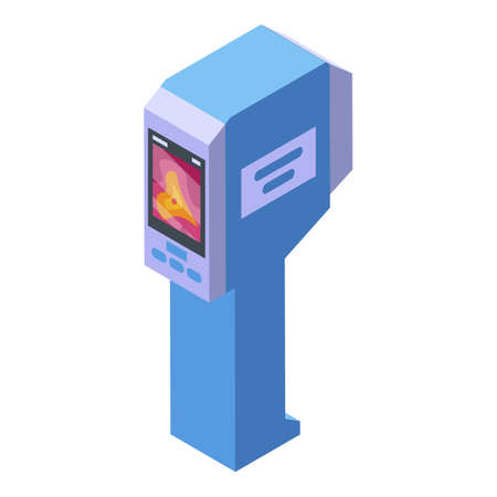 Geodetic thermal imager icon, isometric style