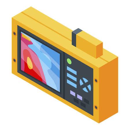 Digital thermal imager icon, isometric style Ilustración de vector