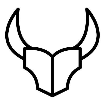 Wildebeest animal icon, outline style Illustration