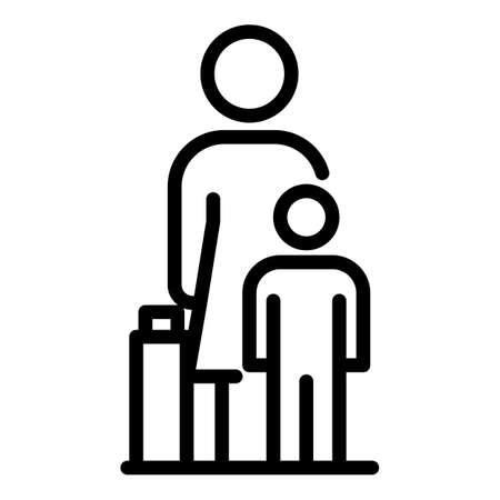 Illegal immigrants icon, outline style Stock Illustratie