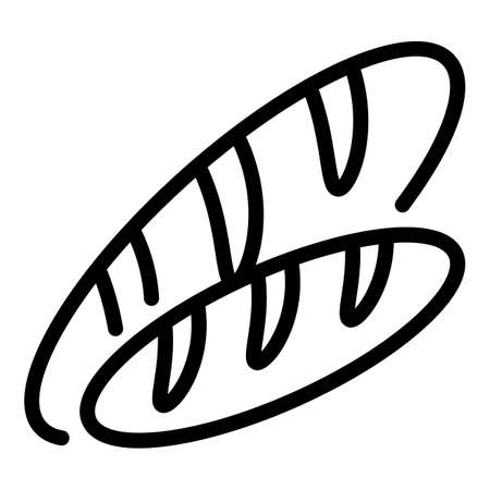 Bread for immigrants icon, outline style