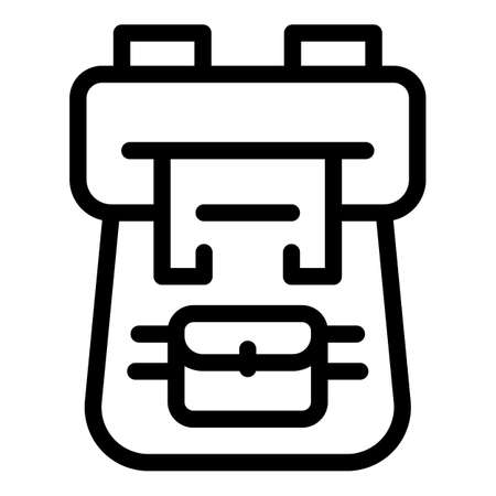 Hiking backpack icon, outline style