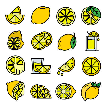Lime icons vector flat