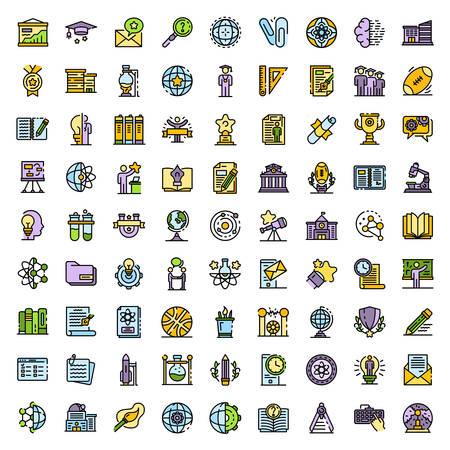 University icons vector flat Vektorové ilustrace