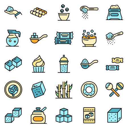 Sugar icons vector flat