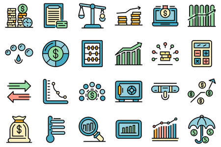 Credit score icons vector flat