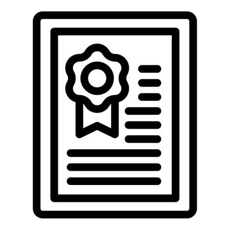Broker diploma icon, outline style