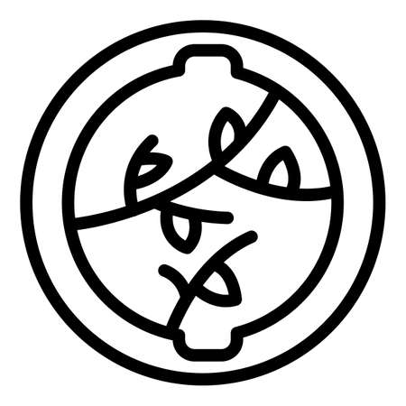 Animal trap icon, outline style