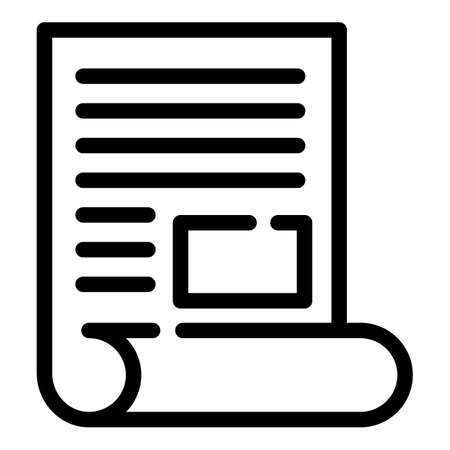 Broker documents icon, outline style