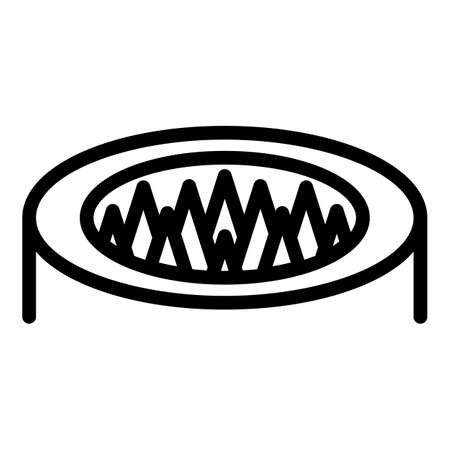 Spike animal trap icon, outline style