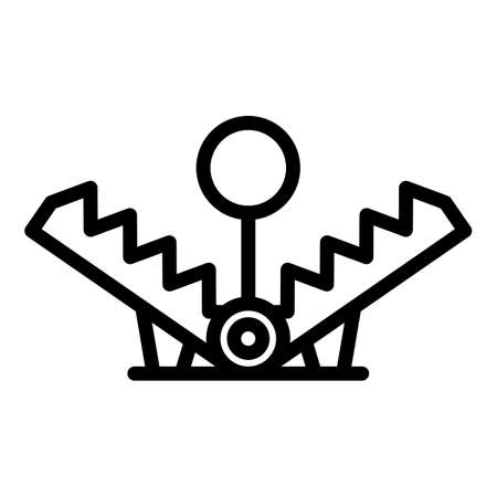 Bait animal trap icon, outline style