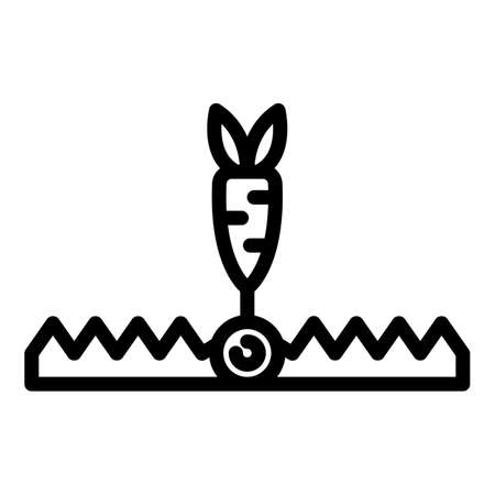 Wealth animal trap icon, outline style